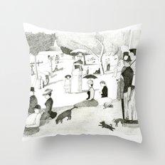 Seurat Sunday Afternoon Throw Pillow