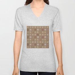 Brown tile . Unisex V-Neck