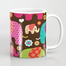Retro Elephants Coffee Mug