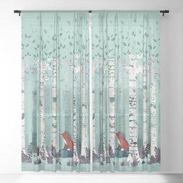 The Birches Sheer Curtain