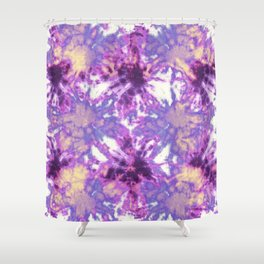 Tie-Dye Linen Bloom Shower Curtain