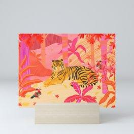 Tiger and Mandarin Ducks Mini Art Print