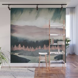 Forest Lake Evening Wall Mural