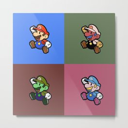 Mario Bros by Andy Warhol Metal Print