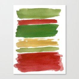 Christmas Colour Palette Canvas Print
