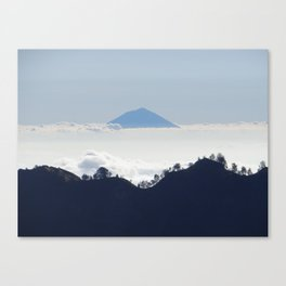 Island in the clouds Canvas Print