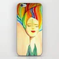 grace iPhone & iPod Skins featuring grace by sylvie demers