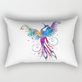 Phoenix Watercolor Print Nursery Art Gift for Her Bird Art Rectangular Pillow