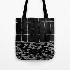 Hand Drawn Grid Tote Bag
