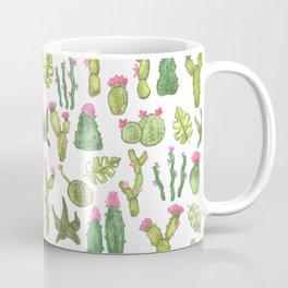 watercolor blooming cacti and succulents Coffee Mug