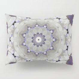Flowers Purple and white Pillow Sham