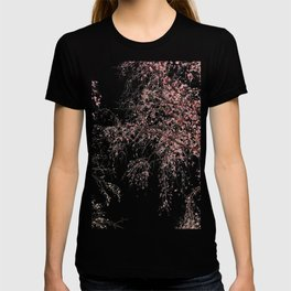 Cherry tree pink blossoms branches watercolor painting T-shirt