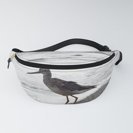 Greater Yellowlegs Watches the Surf Fanny Pack
