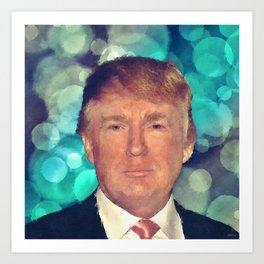 President Donald J. Trump Art Print