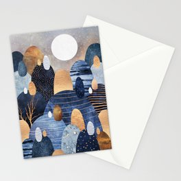 Little Land Of Pebbles - Blue Stationery Cards