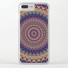 Mandala 454 Clear iPhone Case