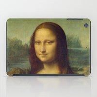 mona lisa iPad Cases featuring Mona Lisa by TilenHrovatic