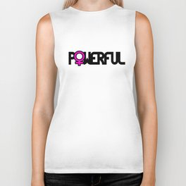 Powerful Strong Woman Biker Tank