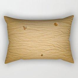 traces dans le sable Rectangular Pillow