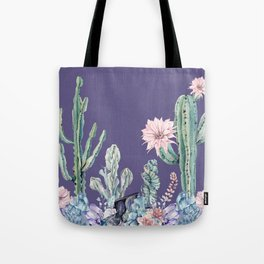 Desert Gemstone Oasis Purple Tote Bag