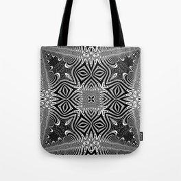 Black & White Tribal Symmetry Tote Bag