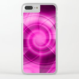 Pink & Purple Windmill Clear iPhone Case