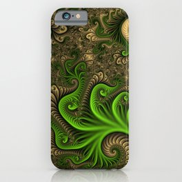 Fantasy World II, Abstract Fractal Art iPhone Case