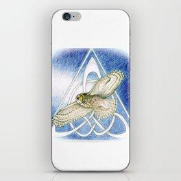 Great Horned Owl soft framed iPhone Skin