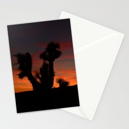 Desert Sunset Silhouettes - II Stationery Cards