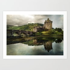 Landscape with an old castle Art Print