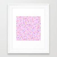donut Framed Art Prints featuring Donut  by Alexandra Aguilar