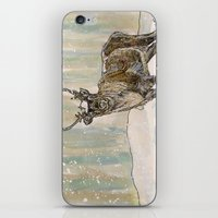 reindeer iPhone & iPod Skins featuring Reindeer by Meredith Mackworth-Praed