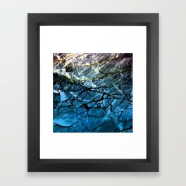 Blue Labradorite Crystal Framed Art Print