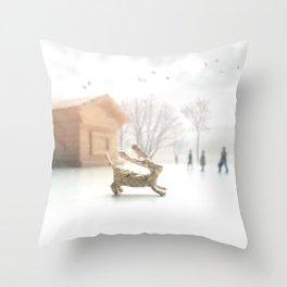 Lost Rabbit Throw Pillow