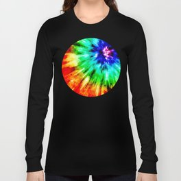 Tie Dye Meets Watercolor Long Sleeve T-shirt