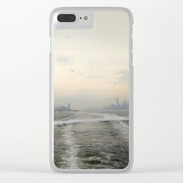 Manhattan Skyline. Clear iPhone Case