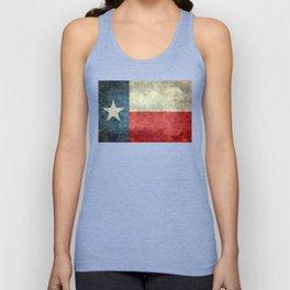 Texas flag, Retro distressed texture Unisex Tank Top