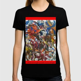 Rainbow meaning of life modern paintings by Christian T. T-shirt