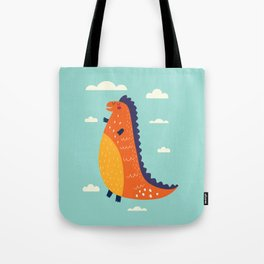 Funny Dinosaur Tote Bag