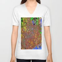 san francisco V-neck T-shirts featuring san francisco by donphil