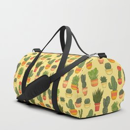 Cactus and Succulent (Tan) Duffle Bag