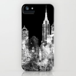 New York City Inverted Watercolor Skyline iPhone Case