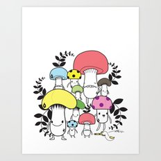 WELCOME TO MUSHROOM LAND - EP.547 VE Art Print