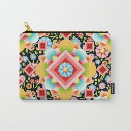 Geometric Chintz Mandala Carry-All Pouch
