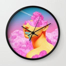 Pink Cloud Meta Woman Wall Clock
