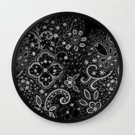 B&W Lace Wall Clock