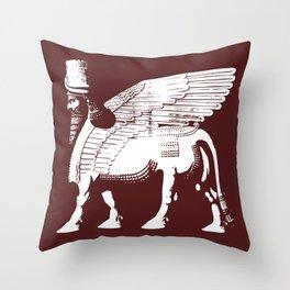 Lamassu Throw Pillow