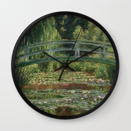 Claude Monet - Japanese Footbridge Wall Clock