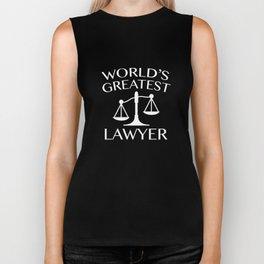 World's Greatest Lawyer Biker Tank