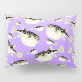 Puffer Fish Violet Purple Pattern Pillow Sham